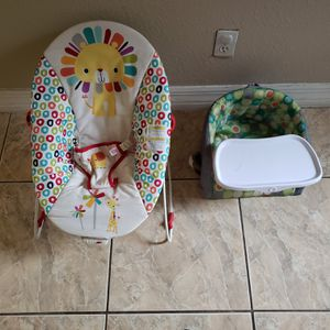 Baby bouncer chair and booster seat for Sale in Naples, FL