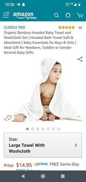 NEW Organic bamboo hooded towel for Sale in San Jose, CA