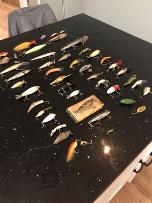 Vintage Lures and Tackle Box +Extras! for Sale in Seattle, WA