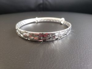 Brand new bangle bracelet 925 sterling silver stamped really sparkling beautiful gift for Thanksgiving black friday Christmas for Sale in Aurora, IL