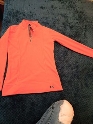 Size small hot pink womans under armor quarter zip sweat shirt for Sale in Tacoma, WA