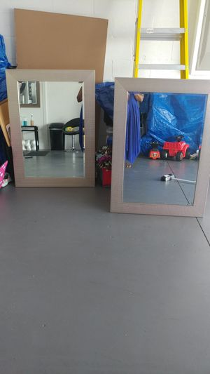 Two large wall mirrors for Sale in Riverview, FL