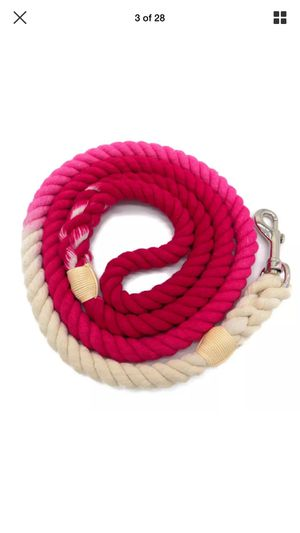 5 FT Ombre Cotton Rope Dog Leash Braided Rose Pink for Sale in Endicott, NY