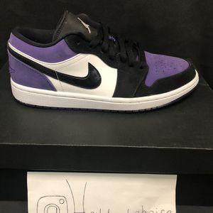 Jordan 1 Low Court Purple for Sale in Edmond, OK