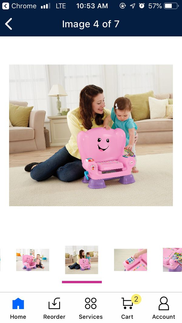 FISHER PRICE LAUGH N LEARN PINK SMART STAGES BABY TODDLER LEARNING CHAIR