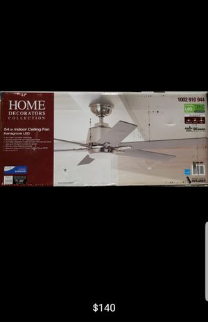 54 inch indoor ceiling fan with LED lights and remote control for Sale in Bakersfield, CA