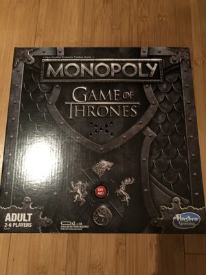Monopoly Game of Thrones Board Game for Adults - Limited edition-Very Rare for Sale in San Jose, CA