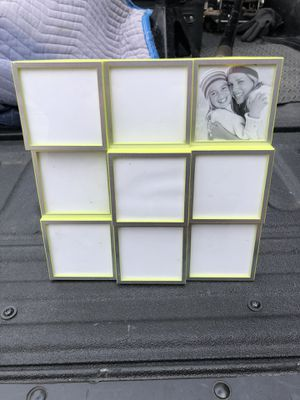 Green Tree Gallery 9 Picture Photo Frame Wall Decor, Lime Green & Silver for Sale in Glenshaw, PA