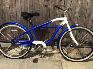 Blue schwinn legacy beach cruiser bike for Sale in Pomona, CA