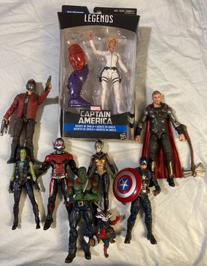 Marvel Legends Avengers Guardians of the Galaxy Captain America loose figure lot for Sale in Los Angeles, CA