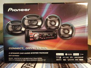 Brand new, Pioneer CD player w/ 4 speaker car audio package for Sale in Denair, CA