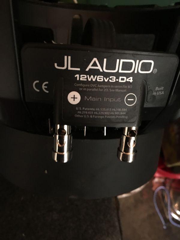 "Jl audio 12"" W6 NEEDS REBUILD"