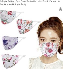 Brand new 4 PCS Adults Face Mask Reusable and Washable Proof, Multiple Pattern Face Cover Protection with Elastic Earloop for Sale in Queens,  NY