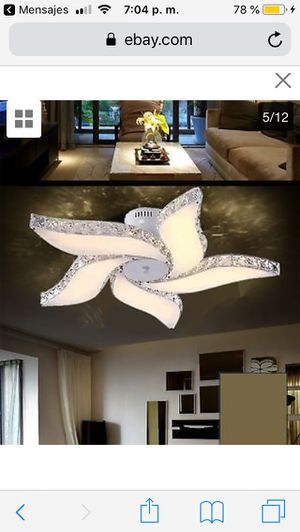 Elegant Crystal Chandelier Modern 5 Ceiling Light Lamp Pendant Fixture Lighting price firm $100 for Sale in Castro Valley, CA