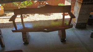 Rustic cedar bench for sell beautiful finish gloss for Sale in Cypress, TX
