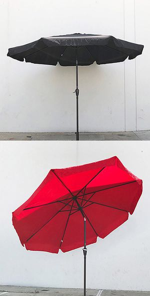(New in box) $40 each Outdoor 10' ft Patio Umbrella Aluminum Beach Garden w/ Tilt Crank (4 Colors) for Sale in Whittier, CA