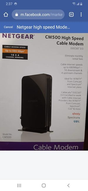 New - Netgear hi speed modem for Sale in Brooklyn, NY