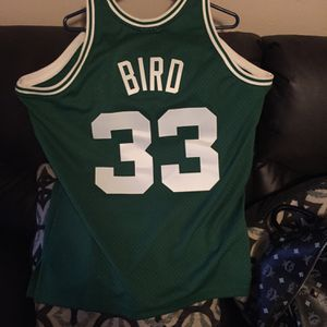 Mitchell & Ness Boston Celtics Larry Bird Jersey Hardwood Classic HEC Swingman 1985-86 for Sale in Ville Platte, LA