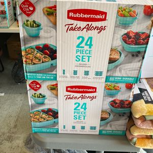 New Rubbermaid TakeAlongs Meal Prep 24- Piece Food Storage Containers for Sale in Houston, TX