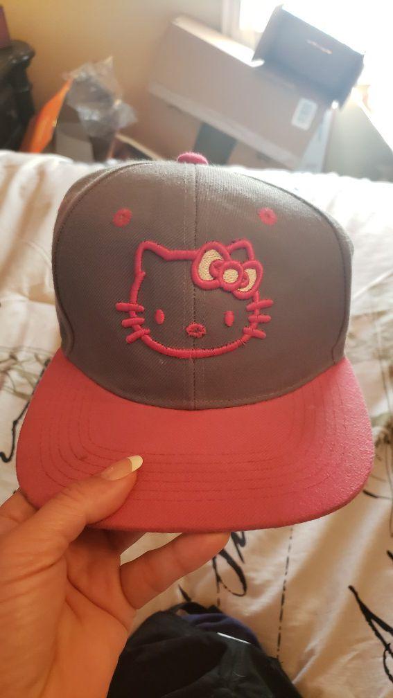 Hello Kitty girl's hat..grey/pink