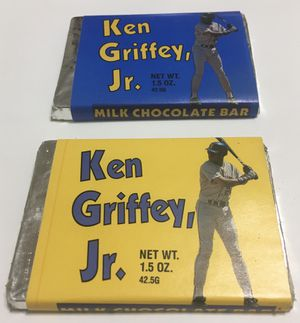 Ken Griffey Jr. Wade Boggs Chocolate bars Pacific Candy Company for Sale in Boston, MA