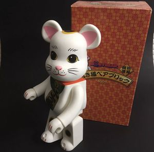 Medicom toy bearbrick be@rbrick 400% skytree lucky cat white fortune Figure babybear for Sale in Las Vegas, NV