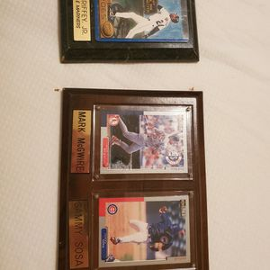 Baseball Cards In Plaque for Sale in Dickinson, TX