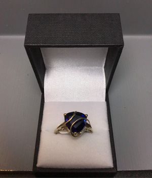 10k gold blue stone ring for Sale in Chicago, IL