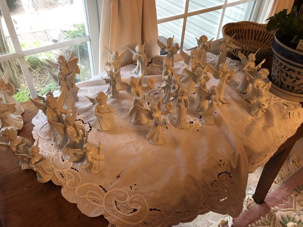 Angels made of German porcelain there are 18 from mother in laws estate. Mint condition