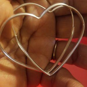 Beautiful Heart Hoop earrings for Sale in Phoenix, AZ