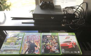 XBOX 360 w/ 4 games for Sale in Seattle, WA