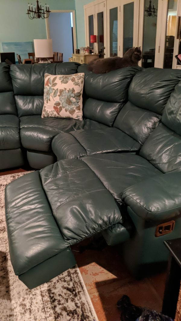 Leather couch With recliners
