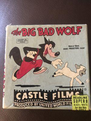 """Vintage """"The Big Bad Wolf"""" 8mm Film Reel for Sale in Muncie, IN"""