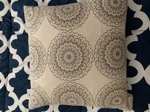 Gray floral decor pillow for Sale in Lorton, VA