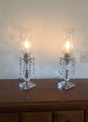 Antique glass electric candelabras (2) for Sale in Orlando, FL