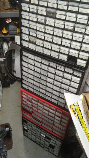 Computer Electrical PARTS LOT w/ Plastic Storage Organizer Bins AKRO-MILS for Sale in Pembroke Pines, FL