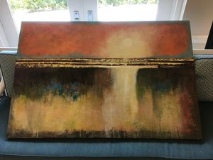 """Abstract art """"Morning Mist"""" 60""""x40"""" for Sale in Coral Gables, FL"""