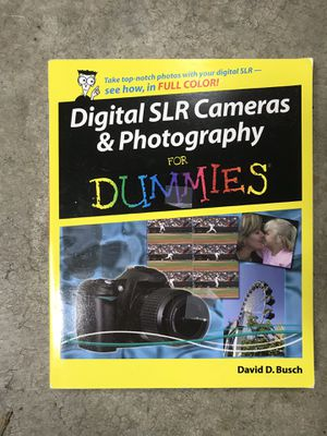 Digital SLR cameras and photography for dummies David Busch for Sale in Puyallup, WA