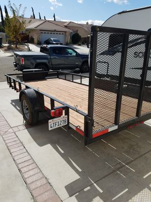 2019 Carson utility trailer 6.5 x 14 with rear ramp for Sale in El Mirage, CA