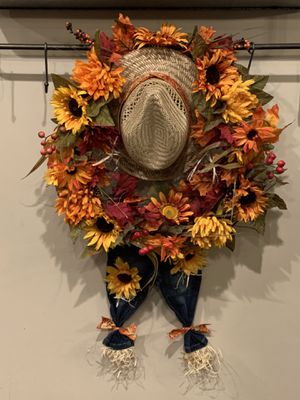 Scarecrow Wreath for Sale in Carthage, MS