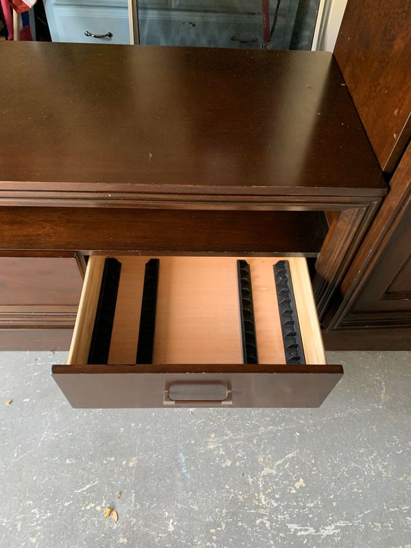 Solid cherry wood entertainment center