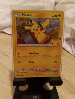 Hollow Pikachu 25th Anniversary Card.... BEST OFFER for Sale in St. Helens,  OR