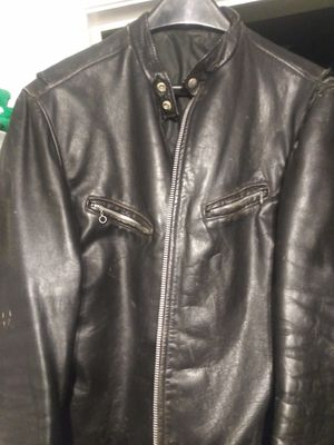 Old vintage leather motorcycle jacket for Sale in Roseville, MI
