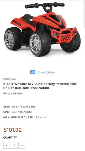 Kids 4-Wheeler ATV Quad Battery Powered Ride On Car-Red for Sale in Irvine, CA