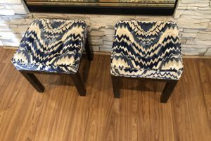 AUTHENTIC PAIR OF VINTAGE MID CENTURY STOOLS for Sale in Las Vegas, NV