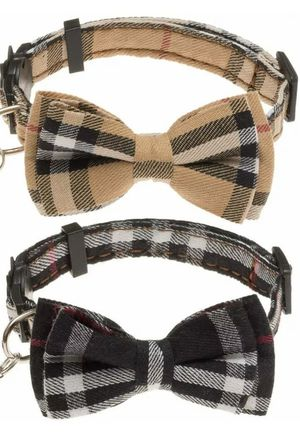 Dog plaid collar with detachable bow for Sale in Midway City, CA
