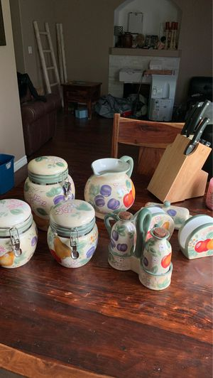 "Kitchen Decor Canister Set ""Apples and Pears"" for Sale in Marysville, WA"