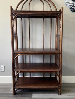 Vintage Rattan Etagere Bookcase for Sale in Los Angeles,  CA