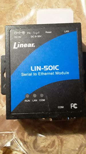 LINEAR AM -SEK SERIAL TO ETHERNET MODULE (Tegular price $200)special price $120 -the converter module connects between the plus panels for Sale in Houston, TX