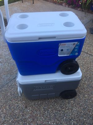2 Coleman coolers for Sale in San Bruno, CA